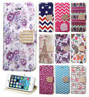For Apple iPhone 5 5S SE Premium Leather Wallet Pouch Flip Cover Accessory