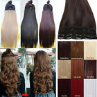 Uk Trendy Long Straight Curly Wavy Clip In Hair Extensions Human Made Fashion M5