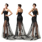 See through Women Sexy Evening Ball Prom Gown Formal Bridesmaid Cocktail Dresses