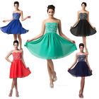 GK Beaded Strapless Cocktail Party Ball Gown Evening Prom Short Dress Size 6~20