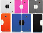 Cricket Nokia Lumia 630 Premium Leather 2 Tone Wallet Case Pouch Flip Cover
