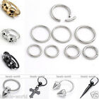 Steel Skull Rivet CBR Cpative Hoop Ring Earring/Nose/Lip/Nipple/Tragus Piercing