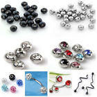 10Pcs Stainless Steel Czech Ball Round For Bead Navel Nose Body Piercing DIY Hot