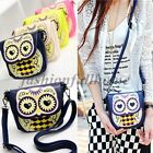 Women Girl Mini Cute Cartoon Owl Shoulder Bag Messenger Bag Clutch handbag