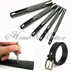 5 Size Hollow Punch Tool Set Hand Hole Punching Leather/Gasket Carbon Steel Kit