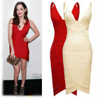 Womens Sexy V-neck Evening Party Cocktail Bandage Bodycon Dresses Size 68102468