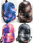 Women Girl fashion Cool Stars sky Printing Backpack Shoulder Bag Campus Rucksack