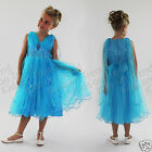 Girls Turquoise Dress Flower Girl Dress Bridesmaid Dress Baby 0-24M 2-13 Years
