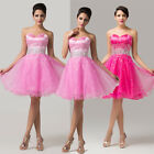 Sexy Short Organza Bridesmaid Wedding Birthday Party Prom Cocktail Evening Dress