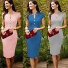 Women Workwear Wear to Work Office Lady Suit Business Career Pencil Sheath Dress