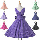 STUNNING PIN UP 40/50s New Lovely Polka Dots Dress Vintage Evening Prom Ballgown