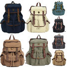 Men/Women's Vintage Canvas Backpack Rucksack Satchel Oversized School Travel Bag