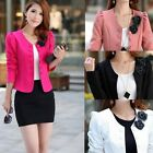 Women 2014 Slim Double-Breasted Puff Sleeve Bow Tie Back Coat Jacket Blazer Suit