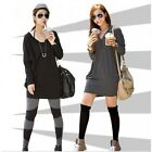 Women Batwing Sleeve Loose Long Blouse Tunic Blouson T Shirt Tee Mini Dress Top