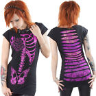 Jawbreaker Pink Butterbone Top Punk Slashed Back Gothic Retro Geek