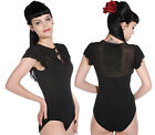 Banned Clothing Short Sleeve Black Body Suit Punk Lolita One Piece Goth