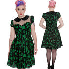 Hell Bunny Verdant Bones Dress Peter Pan Collar Anatatomy Punk Gothic