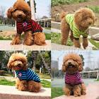 Striped Dog T Shirt Tops Puppy Cat Pet UK Flag Clothes Apparel Costume XS-XL