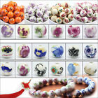 20pcs Flower Design Round Ceramic Porcelain Loose Spacer Craft Bead Charms 10mm