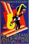1979 New Orleans Jazz Festival Poster A3/A2/A1 Print