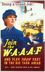 World War Two Join The WAAF Recruitment Poster  A3/A2/A1 Print
