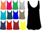 NEW WOMENS SCALLOP EDGE NECK LINE SLEEVELESS JERSEY VEST T SHIRT TOP SIZE 8-22