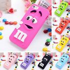 For iPhone 5 5S 3D M&M Chocolate Rainbow Case Cover Skin Bean Soft Case Cover