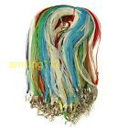 10Pcs Organza Voile String Thread /Cord Necklace Making  Lobster Clasp Chain