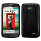 LG Realm LS620 Texture Rubber SILICONE Soft Gel Skin Case Cover + Screen Guard