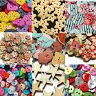 2 Holes Mixed Wood Flower Star Resin Button Sewing Scrapbooking Cardmaking Craft