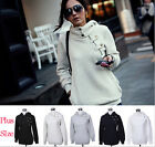 Womens Thin Hooded Sweater Sweatshirt Pullover Casual Coat Blouse Tops Jacket