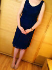 ♥New ASOS Maternity Oxford Blue Lace Dress Size 6 8 10 12 14 16 18 RRP £35♥