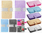 For LG Realm LS620 Premium Bling Diamond Wallet Case Flip Pouch Phone Cover