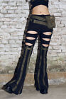 RQBL Nomad Pants Military Flared Long Punk Goth Rock