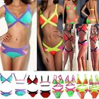 Sexy Bandage Bikini Set Push-up Padded Bra Beach Swimsuit Bathing Suit Swimwear