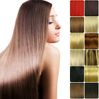 """16""""18""""20""""22""""24""""Clip In Full Head 100% Real Remy Human Hair Extensions UK Stock"""