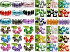 Beautiful Multicolor Round Faceted Crystal Resin Beads Fit European Bracelets