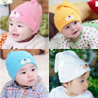 Cute Newborn Cartoon Bear-printed Baby Toddlers Infant Cotton Cap Headwear Hats