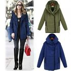 Women Winter Warm Long Loose Hooded Parka Trench Coat Overcoat Jacket Outerwear