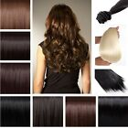 Straight/Curly 8 PCS hairpiece full head clip in on synthetic hair extensions c1