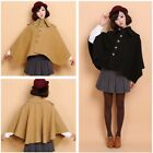 Fashion Autumn Winter Women Batwing Sleeve Shawl Outerwear Cape Coat Poncho Top