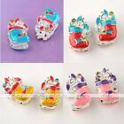 5pcs Enamel Xmas Christmas Socks European Spacer Beads Fit Charms Silver Plated