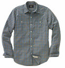 Double Ralph Lauren RRL Mens Blue Indigo Cody Workshirt LS Button Down Shirt