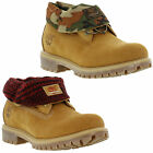 New Timberland Roll Top Mens Wheat Brown Nubuck Leather Boots Size UK 8-11