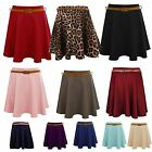 WOMEN LADIES BELTED PLEATED SKATER FLARED JERSEY PARTY SKIRT DRESS S/M M/L