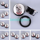 2Pcs Zombie Head Mask Acrylic Screwed Ear Plugs Tunnels Expander Stretcher Gauge