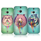 HEAD CASE DESIGNS RAINBOW SLOBBER CASE COVER FOR HTC ONE M8