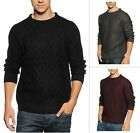 Soul Star Men's Crew Neck Knit Jumper Slim Fit Athens Fashion Winter Pullover
