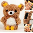 3D Cute Teddy Bear Cool Plush Toy Doll Skin Case Cover For Various Huawei Phones