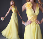 Newest Sexy Deep V-neck Long Formal Evening Gown Bridesmaid Prom Wedding Dress